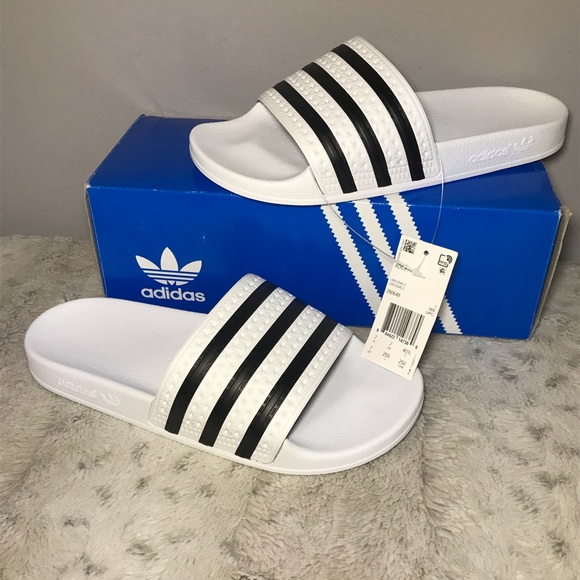 90e5cafde 🆕NIB adidas Adilette Slide Sandals in White 8